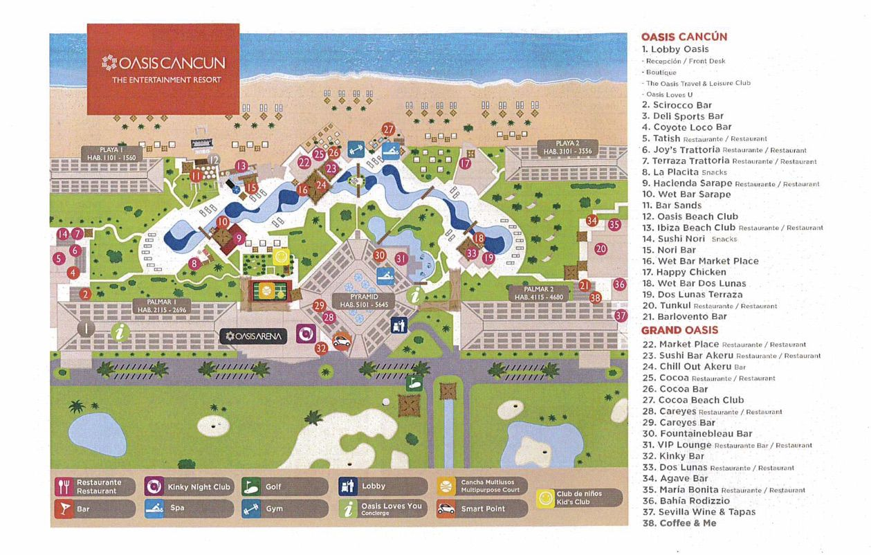 grand oasis cancun resort map The Grand Oasis Cancun Sands Of Luxury grand oasis cancun resort map